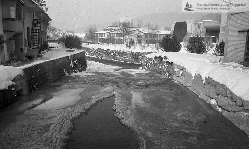 Wiggertal 1984/ Luthern, Umleitung Nebikon, Jan. 1985
