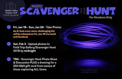 Winter Scavenger Hunt   1-2018