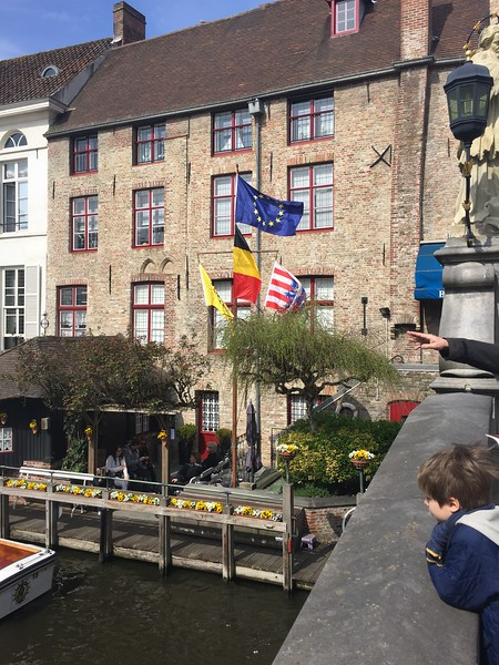 Canal and Flags - Bridget St. Clair