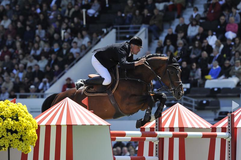 JUMPING : Jérome HUREL - Ohm de Ponthual GRAND PRIX DE LA VILLE DE LA BAULE -  CSIO DE LA BAULE 2012 - PHOTO : © CHRISTOPHE BRICOT