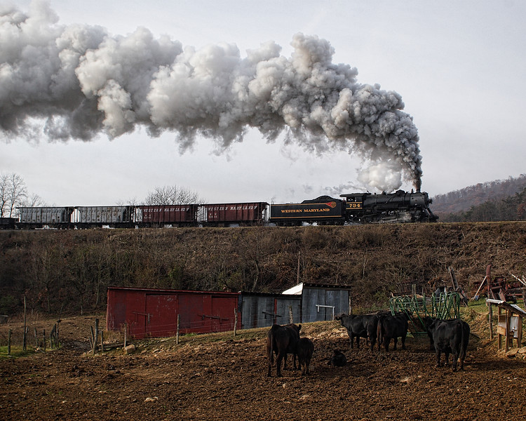 Western Maryland Scenic Railroad, between Cumberland & Frostburg