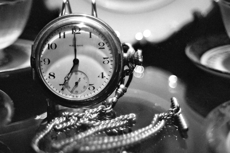Time... ticking away the moment that make up a dull day, fritter and waste the hours...