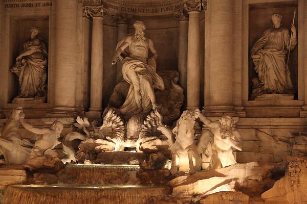 Walking Rome at Night, Italy - May, 2010