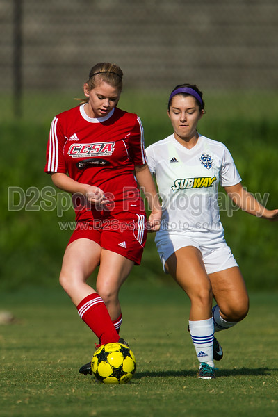 TCYSA 96 LADY TWINS WHITE vs CESA TRAVEL U17G SELECT - U17/18 Girls 8/16/2014