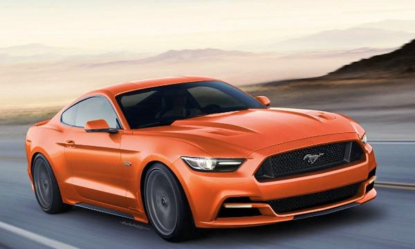 2015 Ford Mustang in Competition Orange. Image courtesy of Ford Motor Company.