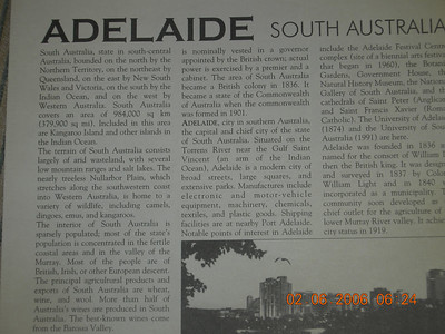 Adelaide, Australia  (2/7/2006)