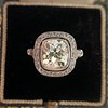 2.85ct Antique Cushion Cut Diamond Halo Ring 44