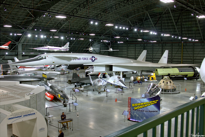 """National Museum of the United States Air Force, Dayton, Ohio,   04/13/2019  Overview of the """"Cold War"""" gallery   North American XB-70-XA Valkyrie c/n AV-1 62-0001 Martin SV-5J  modified to represent the X-24A  Martin X-24A   modified to represent the X-24B (There is some confusion in the references as to the registrations.    Both are displayed as 66-13551)   Martin Marietta X-24B 66-13551   This work is licensed under a Creative Commons Attribution- NonCommercial 4.0 International License."""