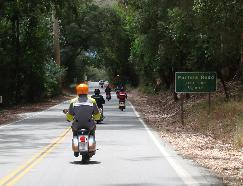 Highway 84 at the Portola Rd split