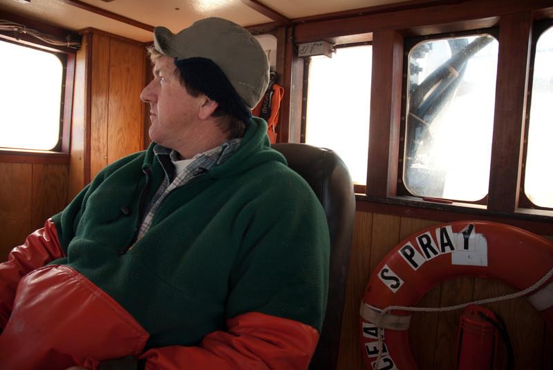 68. North Atlantic Marine Alliance founder, Craig Pendleton, on his shrimp boat, 2007.
