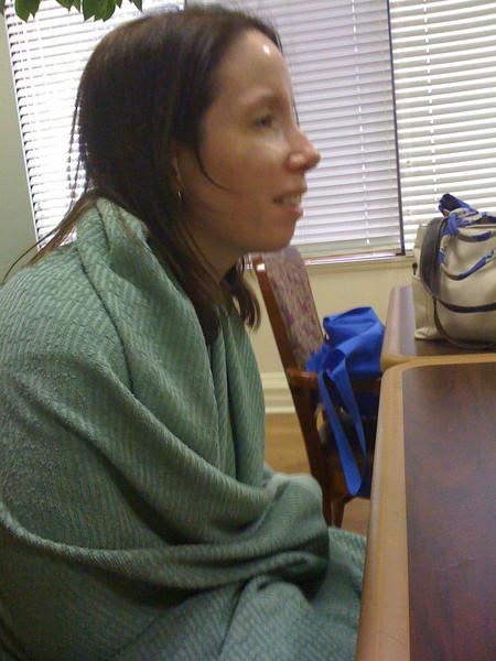 2009 07 19 - Michele watching a movie