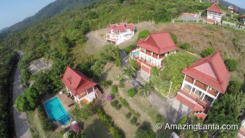 Four Bedroom Sun Set Villa Aerial View