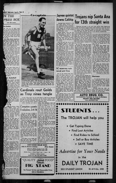 Daily Trojan, Vol. 34, No. 79, February 08, 1943