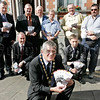 Pictured at the launch of the New pay and display scheme in Newry city centre are, Mayor Michael Carr and local councillers along with employees of the Roads service. 06W32N22