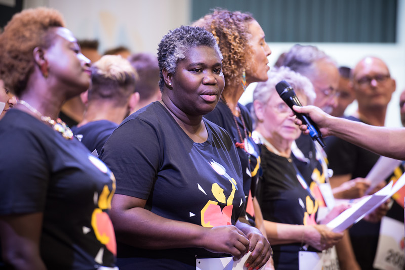 22nd International AIDS Conference (AIDS 2018) Amsterdam, Netherlands   Copyright: Marcus Rose/IAS  Photo shows: Global Village. Positive Flame Choir.