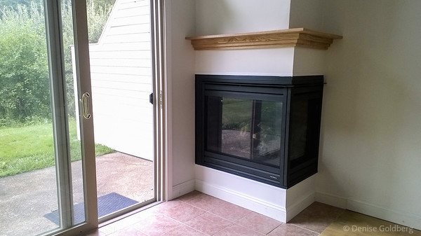 finished, my new gas fireplace