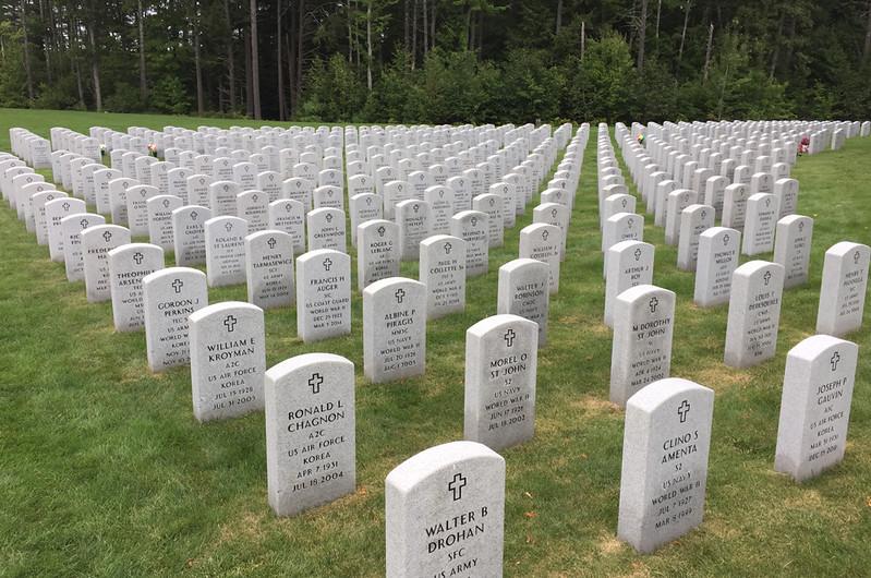Massachusetts Veterans' Memorial Cemetery, Winchendon, MA. August 29, 2017.