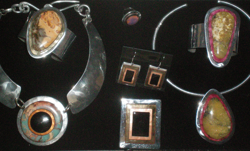 kevin jewelry  #14 2012silver blk and rock cuffs.jpg