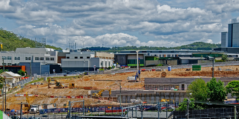 Gosford Hospital building progress  February 6, 2018.  (h10ed)