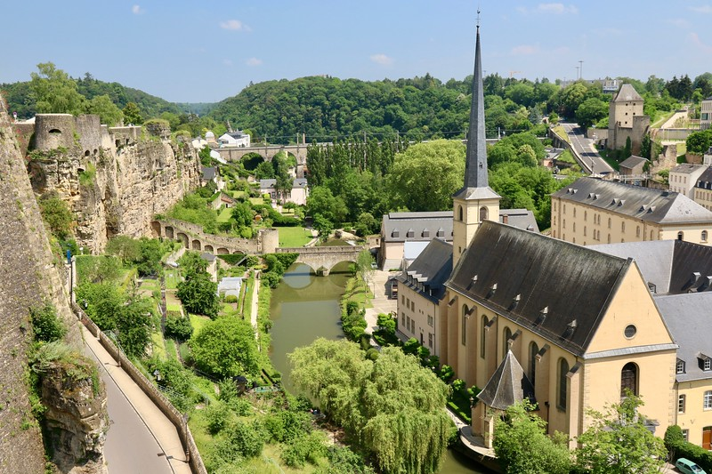The Bock is a promontory offering a natural fortification, its rocky cliffs tower above the River Alzette - Luxembourg