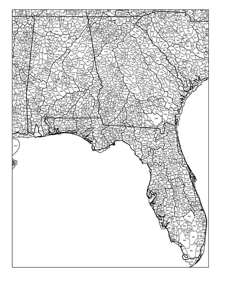 Florida, Alabama, Georgia watersheds