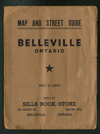 Map of Belleville Ontario sold by Sills Bookstore