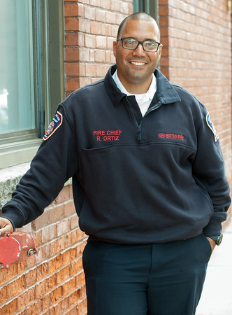 05/17/18 Wesley Bunnell | Staff New Britain Fire Chief Raul Ortiz.