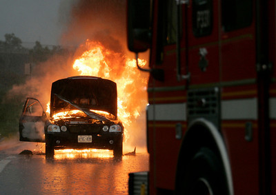 July 8, 2008 - Vehicle Fire - EB Gardiner Expressway @ Dunn Ave exit.