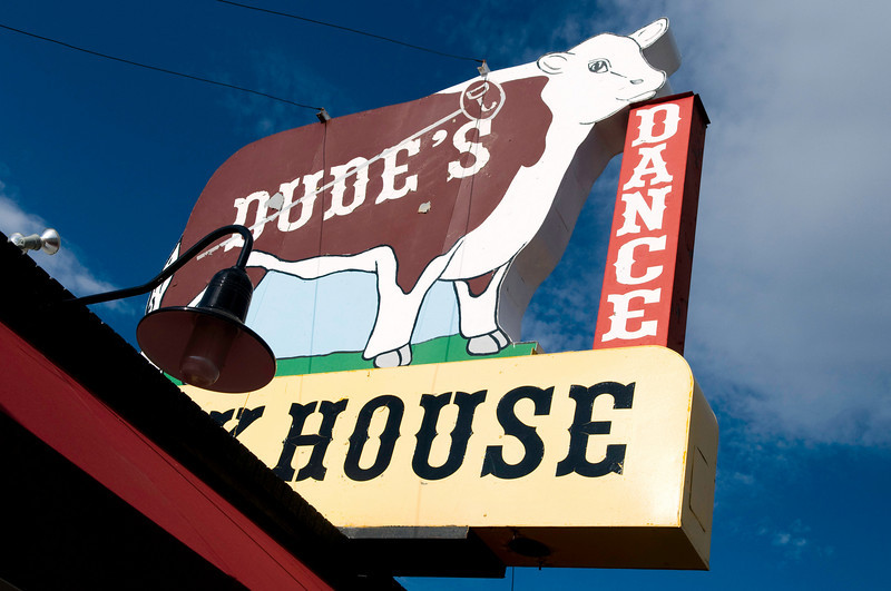 Whenever we drive West, we try ti stop at Dude's in Sidney, Nebraska, for a steak. We pulled into town on a Sunday evening this year, and the place was closed! We found a restaurant in town that served an excellent burger, though.
