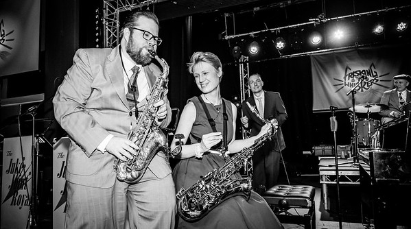 The Juke Joint Royals, B&W at FRisking The Whiskers 2019