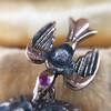 Victorian Revival Heart and Bird Rose Cut Diamond Pendant 10