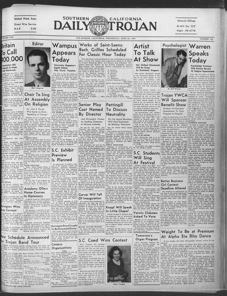 Daily Trojan, Vol. 30, No. 123, April 26, 1939