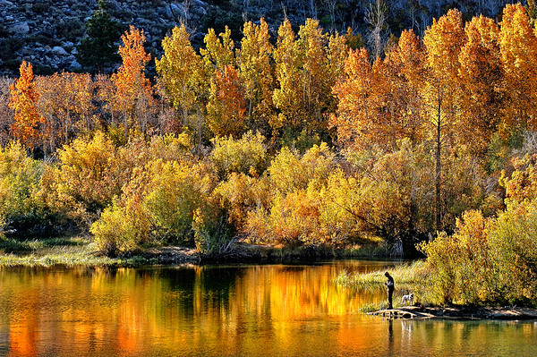 Autumn Light autumn, seasons, lakes, Sierra Nevada, fall, people