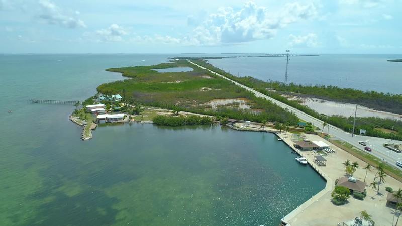 Drone footage Long Key Overseas Highway Florida