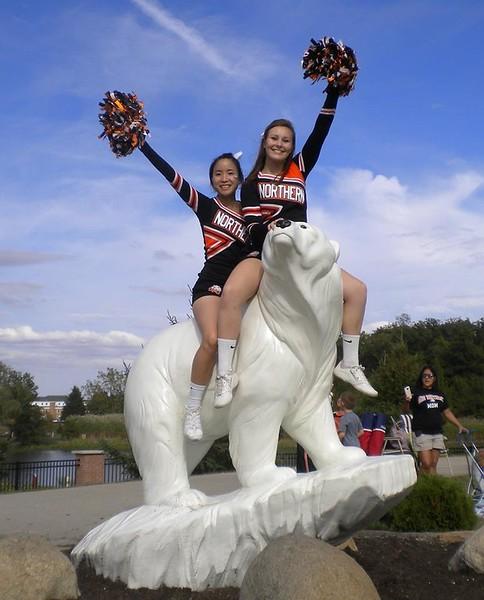 Fellow cheerleader, Anna and Elizabeth at Ohio Northern University - October 2015