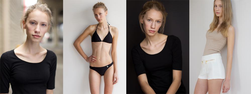 model portfolio samples