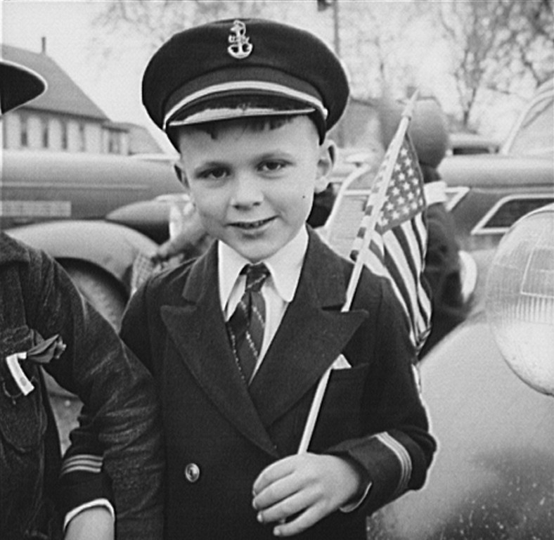 . Ashland, Aroostook County, Maine. A young patriot at the Memorial Day ceremonies, 1943. John Collier, Photographer.  Courtesy the Library of Congress