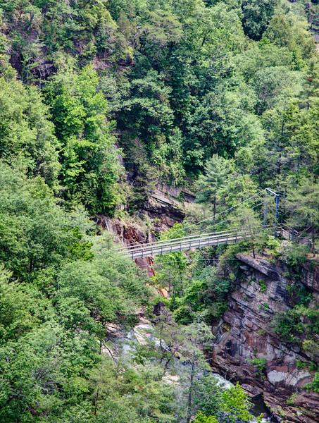Bridge across the Tallulah River at Tallulah Gorge State Park