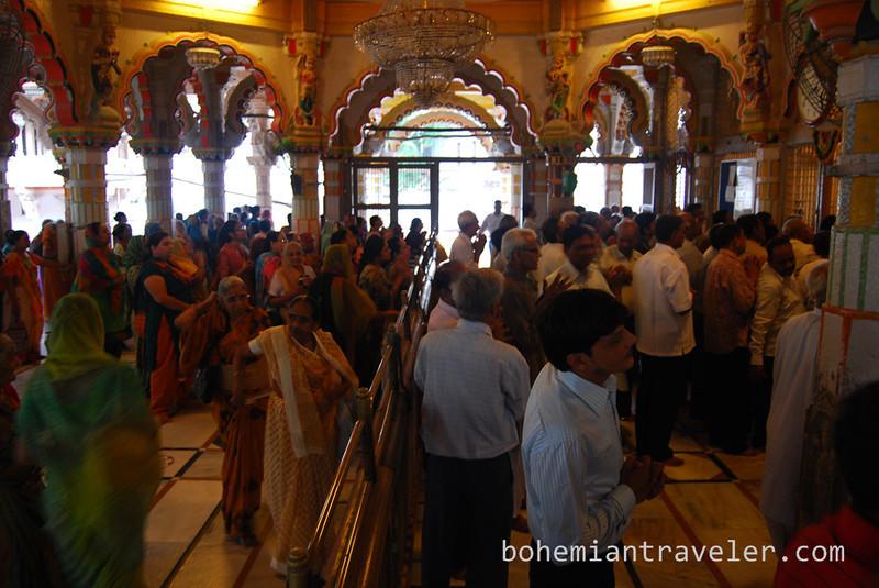 Worshiping at the Swaminarayan [Hindu] Temple in Ahmedabad India.