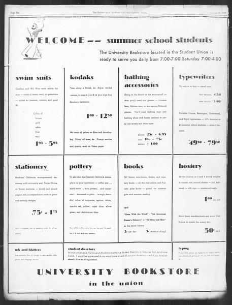 Summer Trojan, Vol. 16, No. 1, June 21, 1937