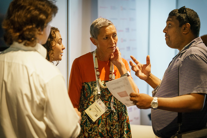 22nd International AIDS Conference (AIDS 2018) Amsterdam, Netherlands.   Copyright: Matthijs Immink/IAS Building bridges from scientific innovation to implementation Photo shows: Green Room Linda-Gail Bekker