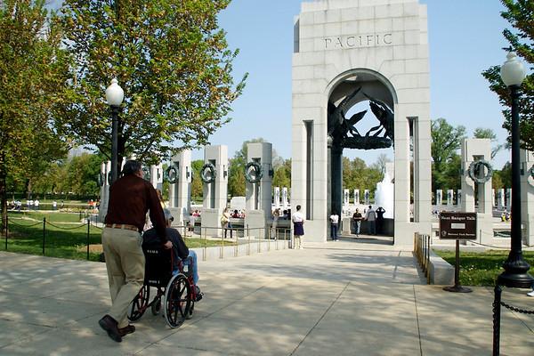 Grampie Ahern Visits WWII Memorial April 2010
