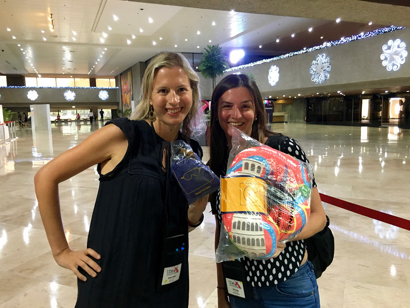 Brianne Miers and Ellie Cleary at TBEX.
