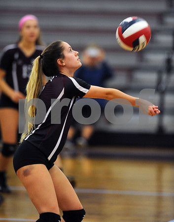10/18/2017 Mike Orazzi | Staff Bristol Central's Taylor Soucy (3) during Wednesday's volleyball match at BC.