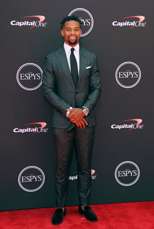 . Jacksonville Jaguars\' A.J. Bouye arrives at the ESPY Awards at Microsoft Theater on Wednesday, July 18, 2018, in Los Angeles. (Photo by Willy Sanjuan/Invision/AP)