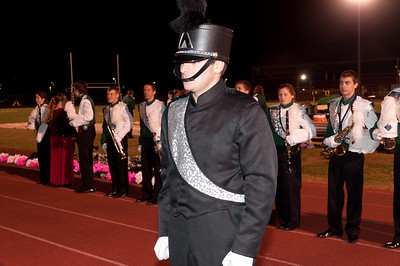 NMHS Band and Color Guard Football Game, October 28, 2011