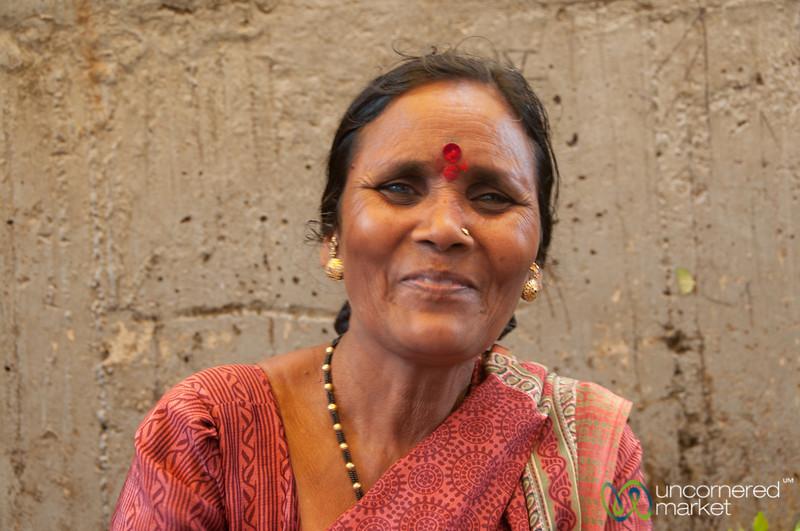 Dadar Flower Market, Vendor with a Smile - Mumbai, India