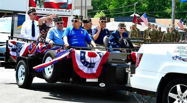 5/25/2019 Mike Orazzi | Staff American Legion Post 117 during the annual Newington Memorial Day parade on Saturday.