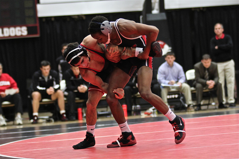 GWU Wrestling defeats Davidson College 29-6 Tuesday, January 22 in the Lutz Yelton Convocation Center