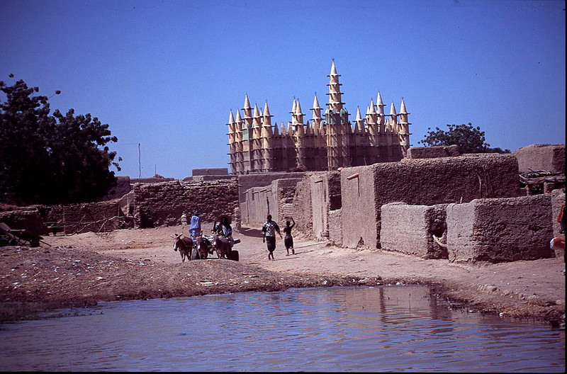 town of Dire on the Niger River